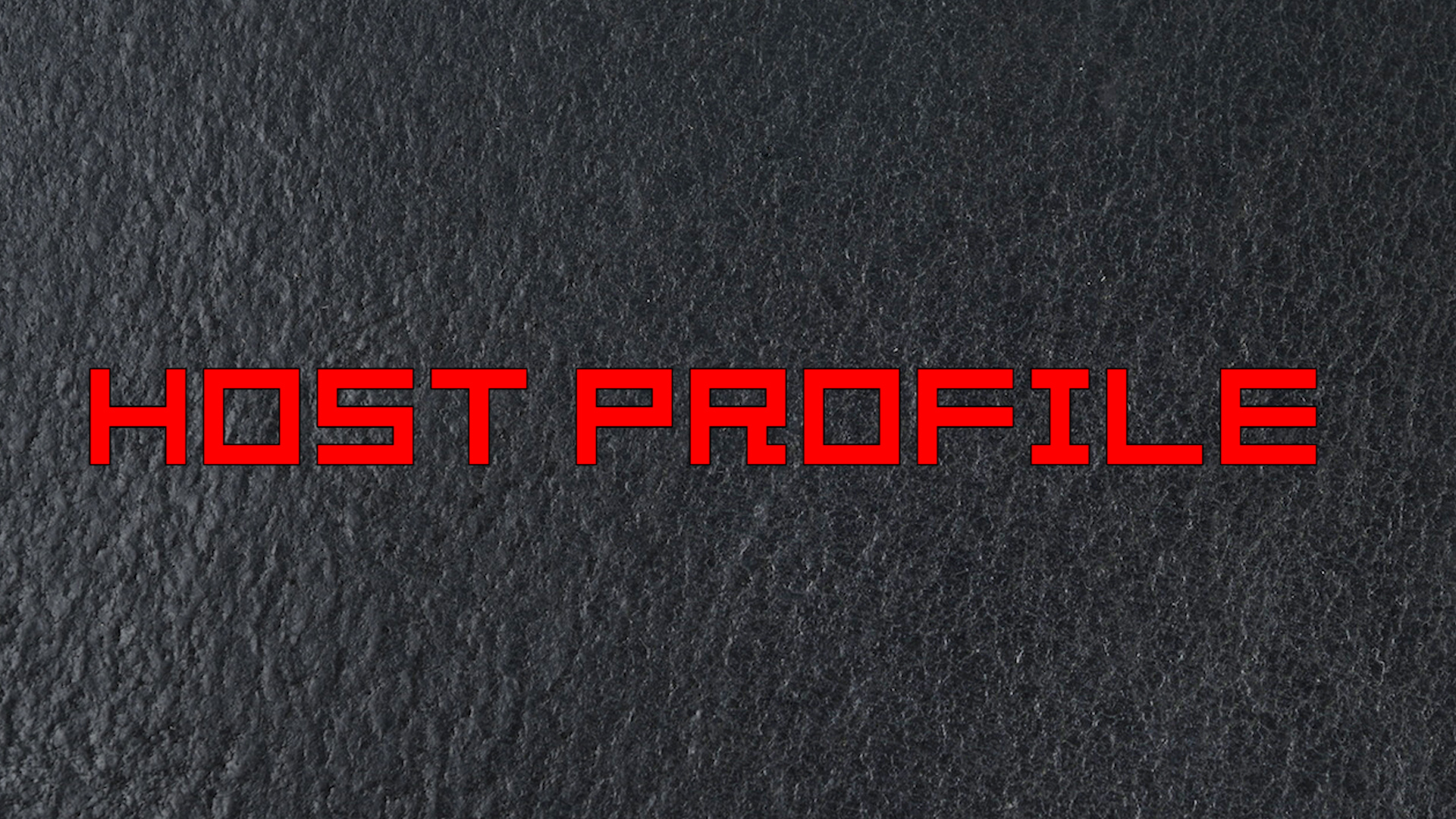 HOST_Profile